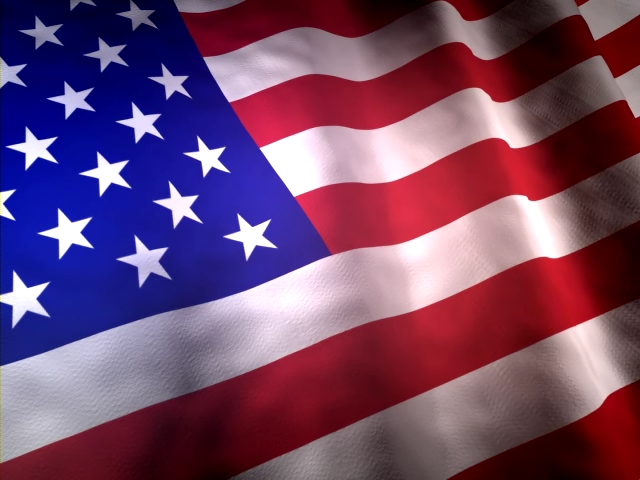 Screenshot of Free USA Flag 3D Screensaver